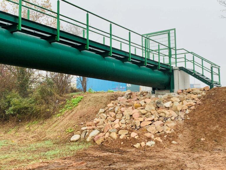 Fuß- und Radwegbrücke zur Kläranlage, Bad Kreuznach 06