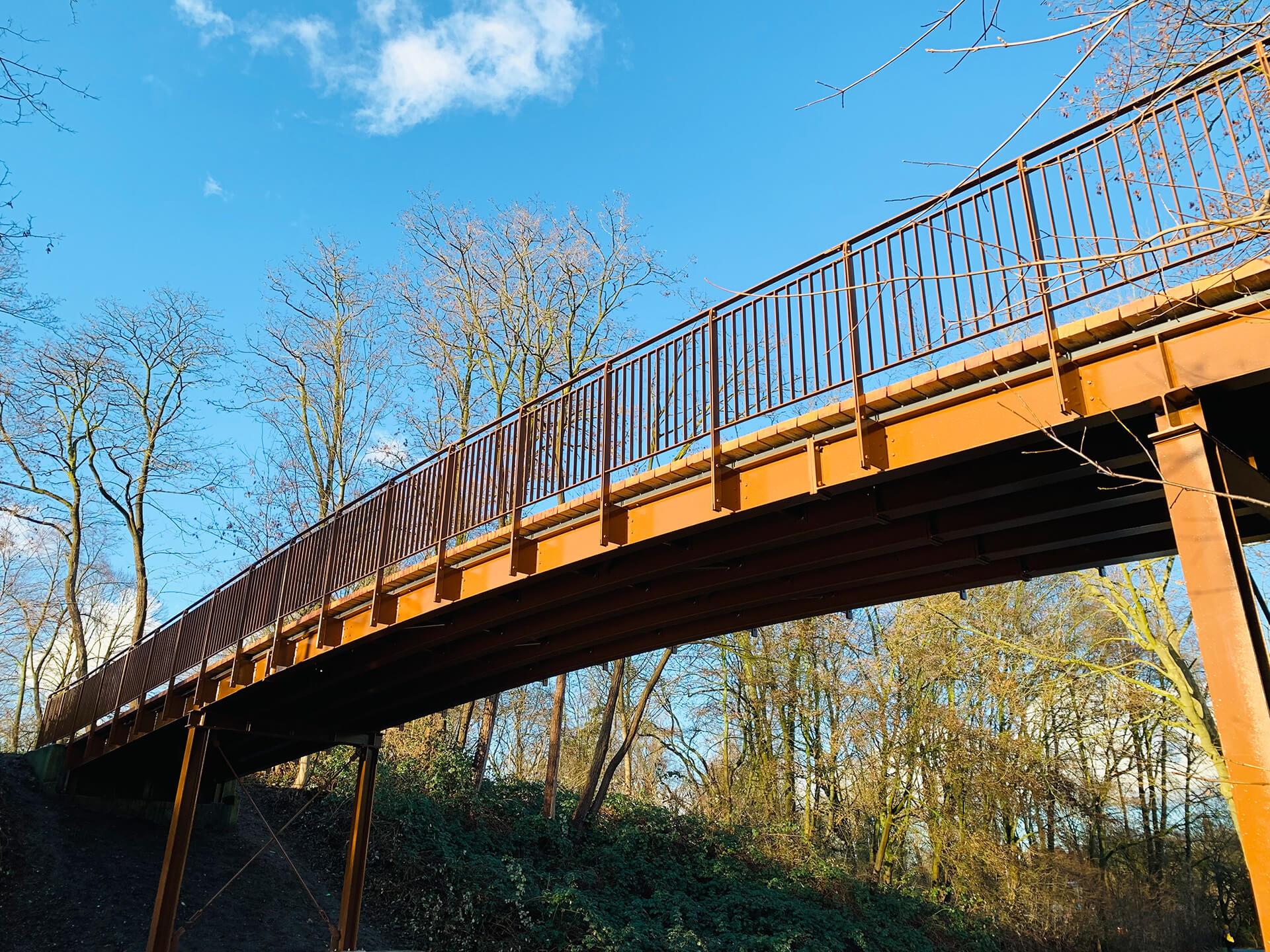 Brücke Mülheim - Stahlbauarbeiten